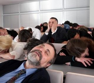 Sleeping audience W-squared marketing